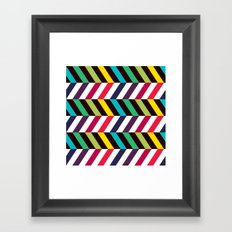 Colorful Zigzag Framed Art Print