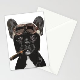 French bulldog Patrol Stationery Cards