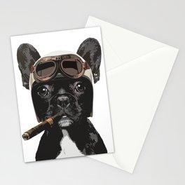 French bulldog Patrol Stationery Cards