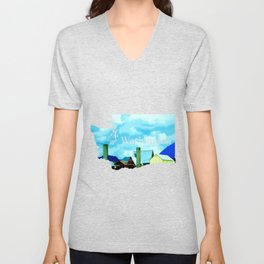 All At Once We Had It In For The Sky Unisex V-Neck
