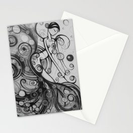 Sometimes Music Makes No Sound Stationery Cards