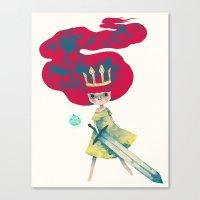 aurora Canvas Prints featuring aurora by yohan sacre