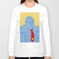 donkey kong Long Sleeve T-shirts featuring Donkey Kong by Ismael Álvarez