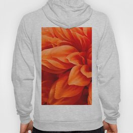 Strawberry-Blonde Tangerine Colored Flower Chic Close-Up Hoody