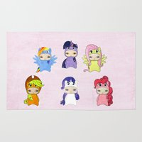 mlp Area & Throw Rugs featuring A Boy - Little Pony by Christophe Chiozzi