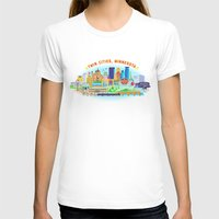 cities T-shirts featuring Twin Cities by Jane Gardner