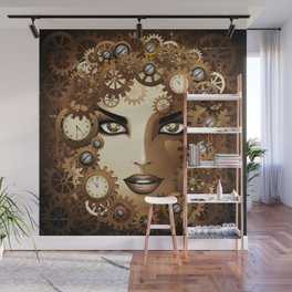 Steampunk Girl Portrait  Wall Mural