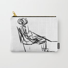 MAN SEATED Carry-All Pouch