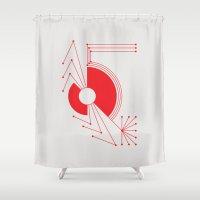 spider Shower Curtains featuring Spider by Hinterlund