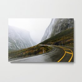 The Road to Milford Sound Metal Print
