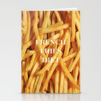 french fries Stationery Cards featuring French Fries Diet by Coconuts & Shrimps