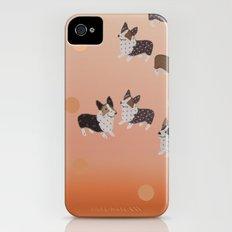 corgi dots - rust iPhone (4, 4s) Slim Case