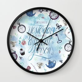 I CAN'T GO BACK TO YESTERDAY Wall Clock