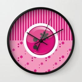 Pink Writer's Mood Wall Clock