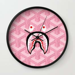 Goyard Bape Pink Wall Clock