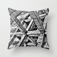 frames Throw Pillows featuring Frames by Mark Alder