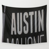 austin Wall Tapestries featuring Austin Mahone by Halle
