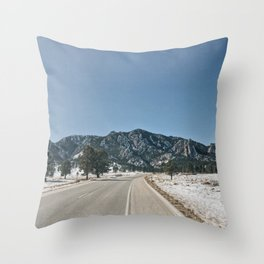 Flatirons Throw Pillow