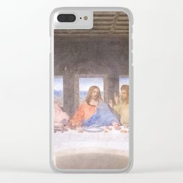 The Last Supper mural  - Leanoardo  Da Vinci - Italy Clear iPhone Case