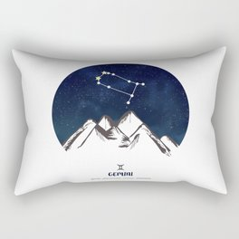 Astrology Gemini Zodiac Horoscope Constellation Star Sign Watercolor Poster Wall Art Rectangular Pillow