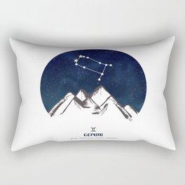 Astrology Gemini Zodiac Horoscope Constellation Star Sign Watercolor Poster Wall Art Rectangular Pillow