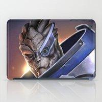 garrus iPad Cases featuring Garrus Vakarian Portrait - Mass Effect by MarcoMellark