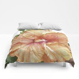 vibrant hibiscus Comforters