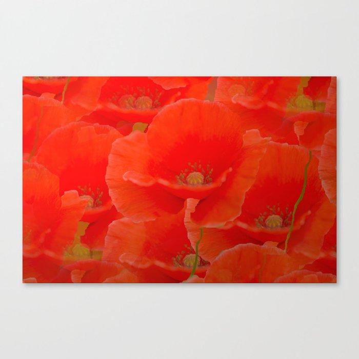 Red Poppies #decor #buyart #society6 Canvas Print