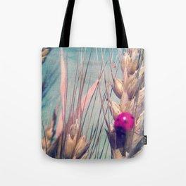 Pink Ladybug Tote Bag