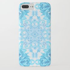 Symmetrical Pattern in Blue and Turquoise Slim Case iPhone 7 Plus