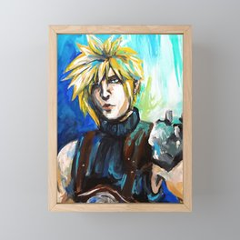 Cloud Strife Framed Mini Art Print