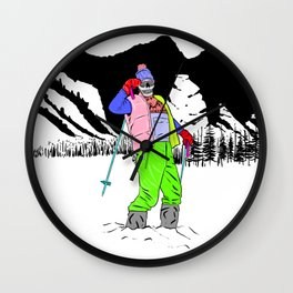 Fresh Pow Wall Clock