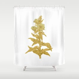 the herbarium yellow Shower Curtain