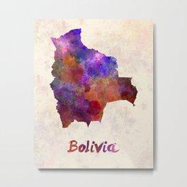 Bolivia in watercolor Metal Print