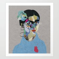 frida Art Prints featuring Frida by Zaneta Antosik