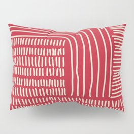 Digital Stitches thick red Pillow Sham