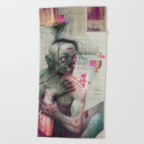 Self Analysis Defrag Beach Towel