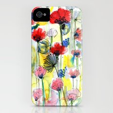 Poppy Floral iPhone (4, 4s) Slim Case
