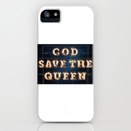 God save the Queen - Hotel iPhone Case
