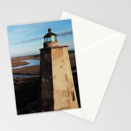 Old Baldy Lighthouse | Drone Photo | Bald Head Island, NC Stationery Cards