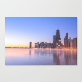Chicago Frozen Sunrise Canvas Print