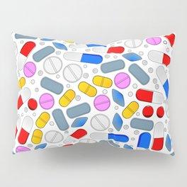 Pills Isolated On White Background Pillow Sham