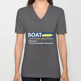 Boat Owner Novelty graphic for boat captains Unisex V-Neck