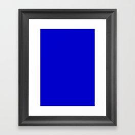 Medium blue Framed Art Print