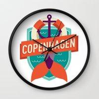 copenhagen Wall Clocks featuring Copenhagen by Fedi