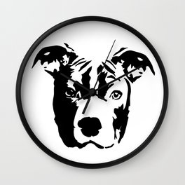 Pit Bull Terrier Dog Wall Clock