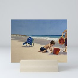 Kids on Bahamas Beach Mini Art Print