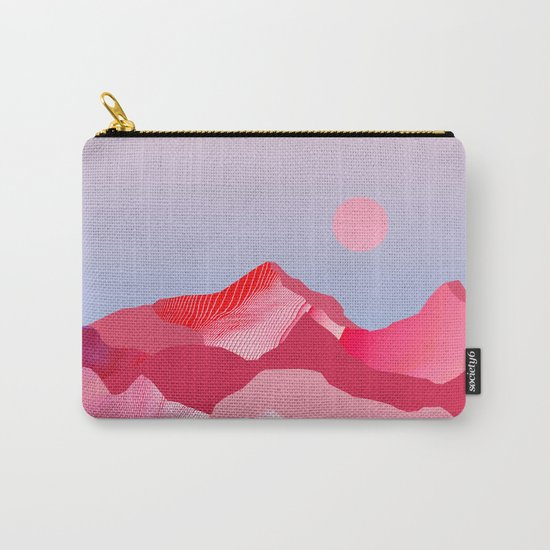Pink Sun Blush Carry-All Pouch