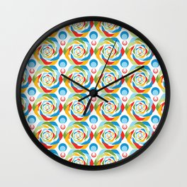 Rose Abstraction Wall Clock