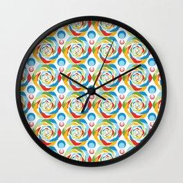 Rose Abstraction Wall Clock